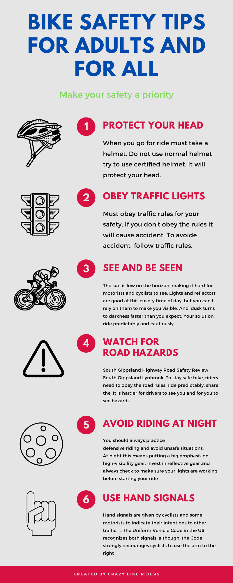 Bike safety tips for adults